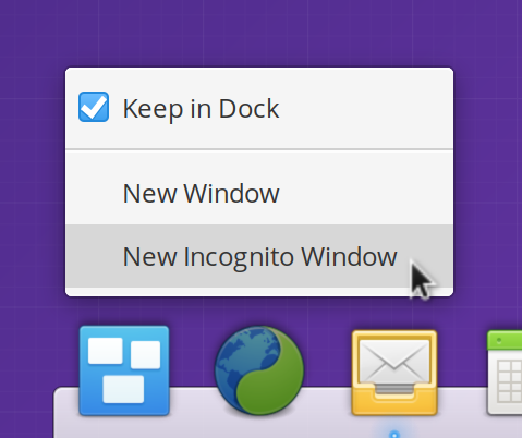 Static QuickLists always display in the Dock and Applications Menu, whether or not the app is open.