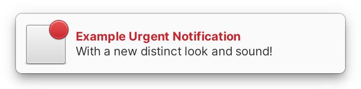 Burbuja de notificación urgente