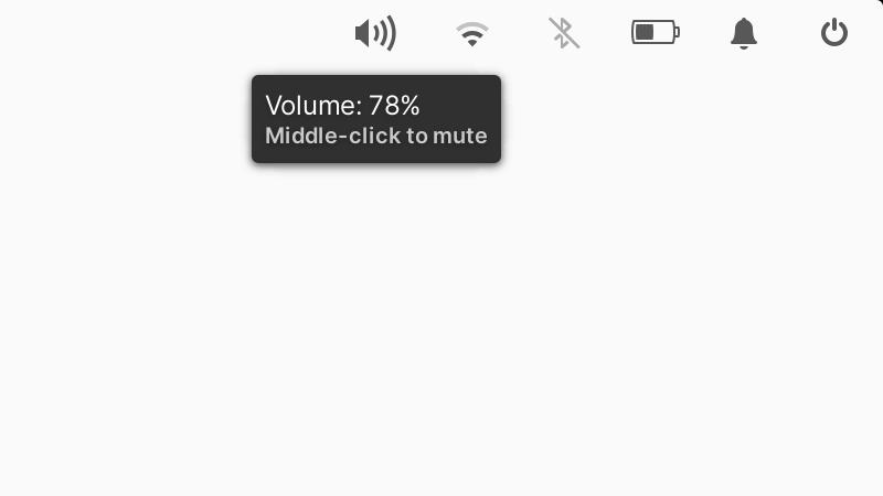 Información sobre herramientas para el indicador de sonido