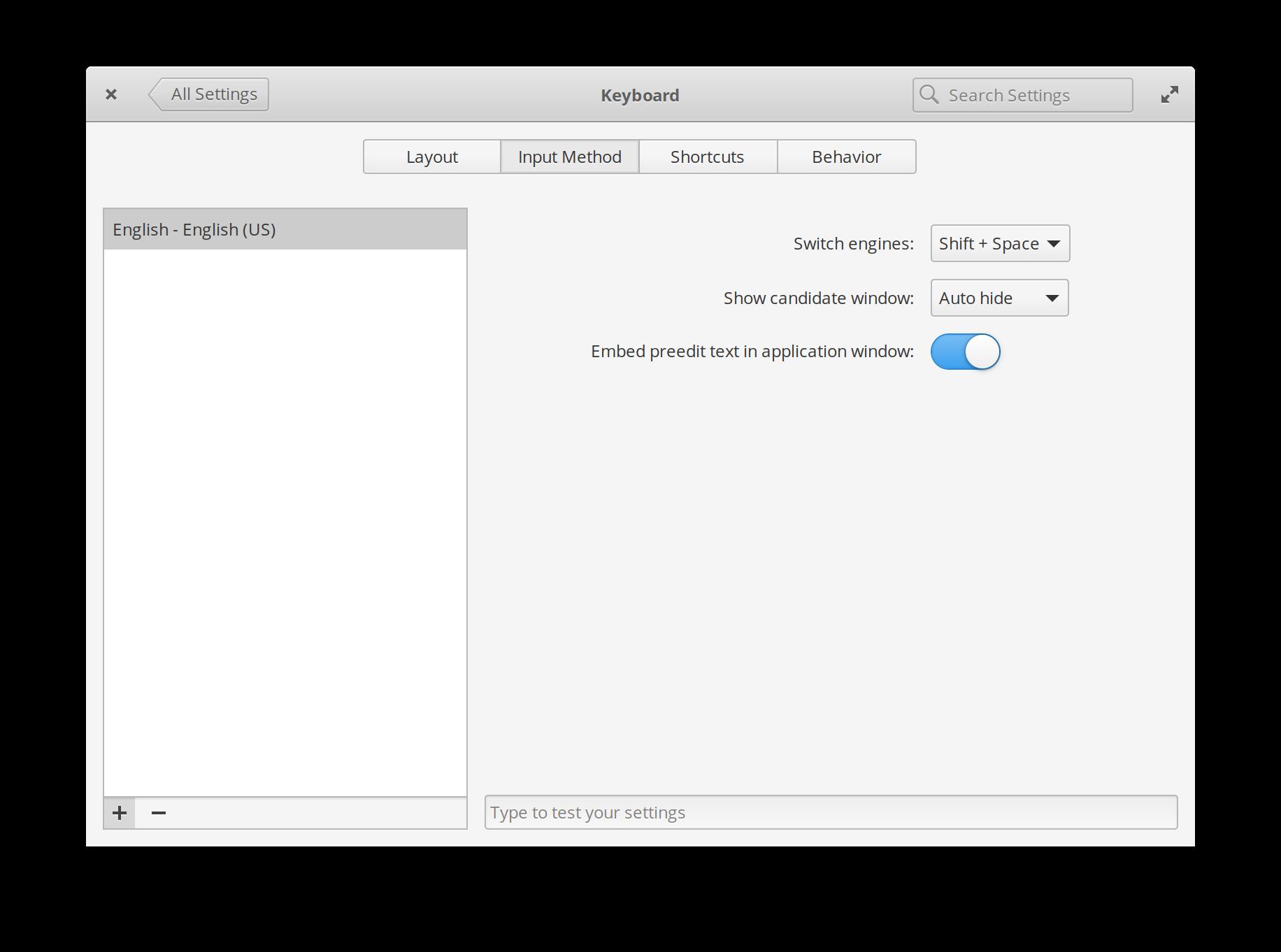 系统设置 - 键盘里的新输入法设置视图